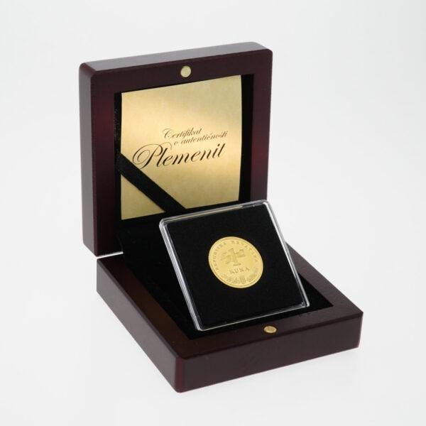 Zlatna kuna u drevnoj kutiji, prednja strana