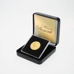 Zlatna kuna u kutiji od umjetne kože, stražnja strana