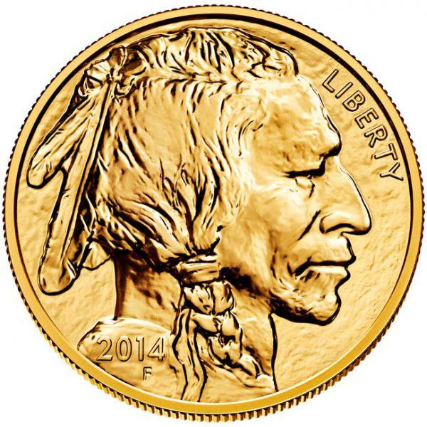 Zlatnik Američki bizon (American Buffalo), masa 1 unce (31,103 grama), stražnja strana