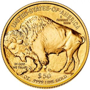 Zlatnik Američki bizon (American Buffalo), masa 1 unce (31,103 grama), prednja strana