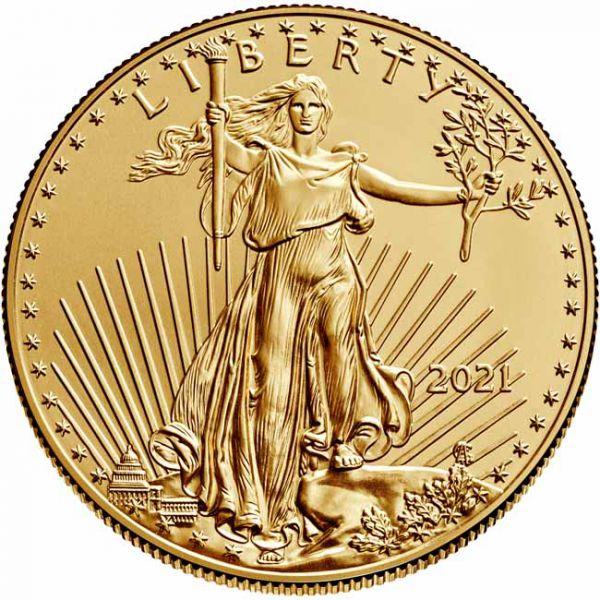 Zlatnik Američki orao (American Eagle) 1 unca, stražnja strana