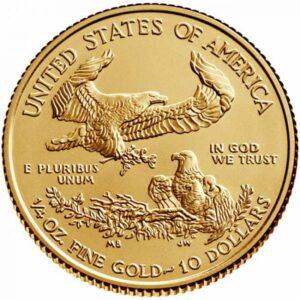 Zlatnik Američko orao (American Eagle) mase četvrtine (1/4) unce, prednja strana