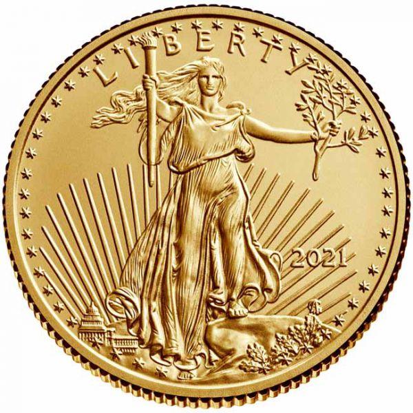 Zlatnik Američko orao (American Eagle) mase četvrtine (1/4) unce, stražnja strana