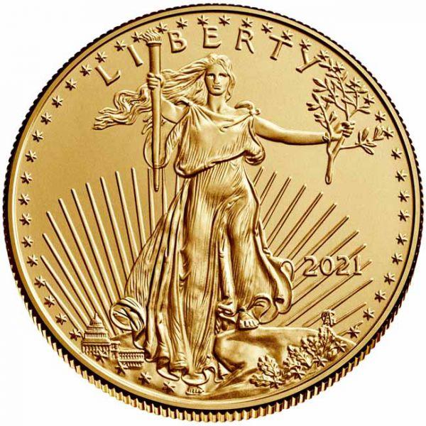 Zlatnik Američki orao (American Eagle) čista masa zlata pola (1/2) unce, stražnja strana