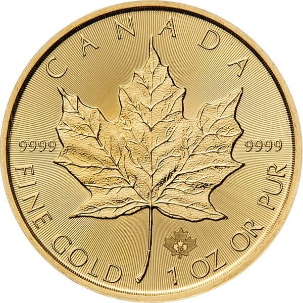 Zlatnik Javorov List (Maple Leaf) 1 unca, prednja strana