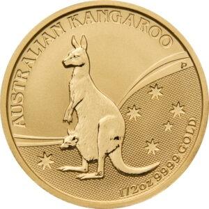 Zlatnik Klokan Kangaroo pola unce (15,55 grama), prednja strana