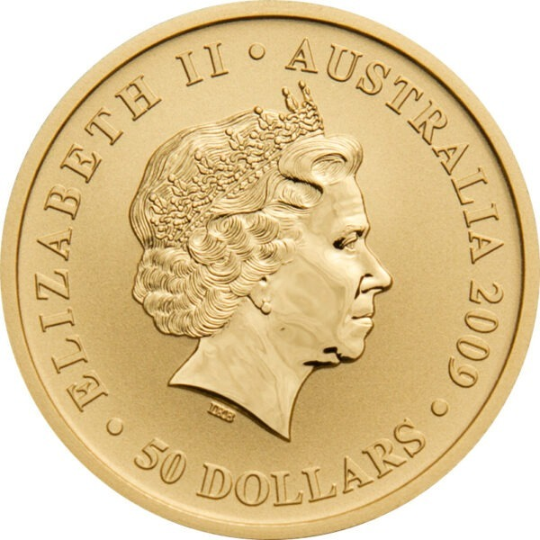 Zlatnik Klokan Kangaroo pola unce (15,55 grama), stražnja strana