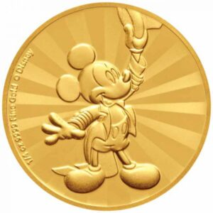Zlatnik Miki Maus (Mickey Mouse) Disney, prednja strana