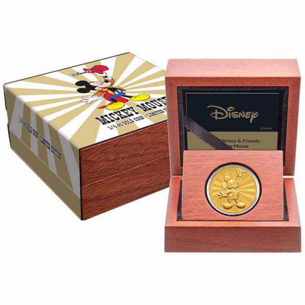 Zlatnik Miki Maus (Mickey Mouse) Disney, u poklon kutiji