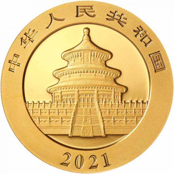 Zlatnik Kineski panda 1 grama, stražnja strana