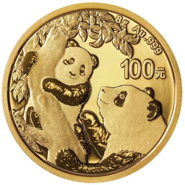 Zlatnik Kineski panda 8 grama, prednja strana