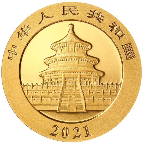 Zlatnik Kineski panda 8 grama, stražnja strana