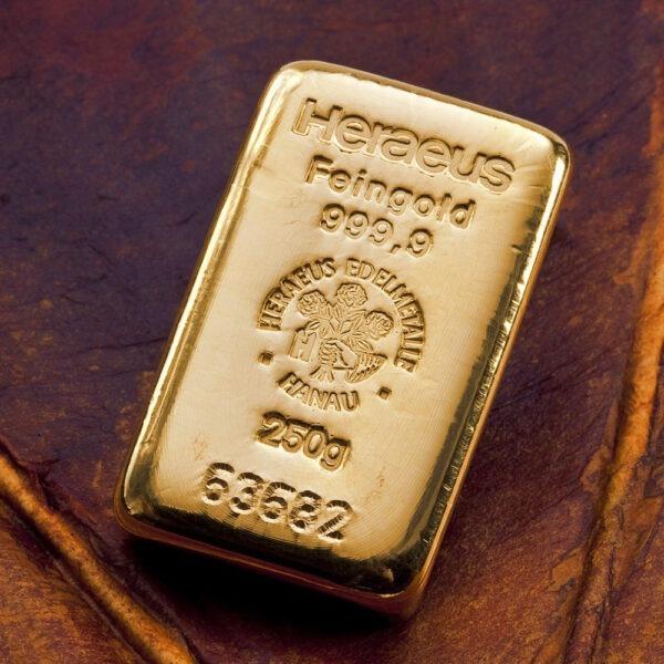 Zlatna poluga 250 grama u akciji