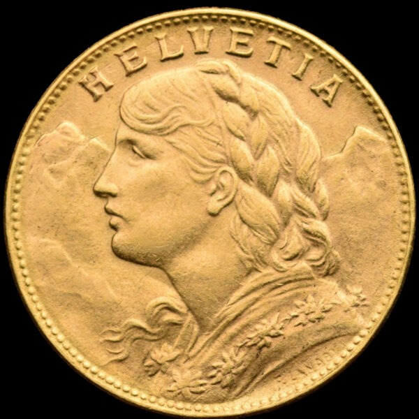 Zlatnik 20 švicarskih franaka Vreneli