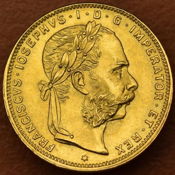 Povijesni austrougarski zlatnik 8 florina 20 franaka