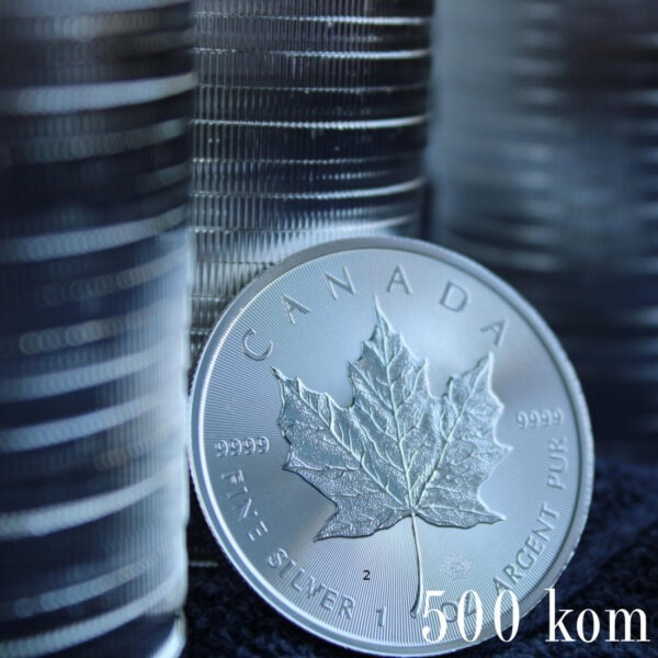Srebrnjak Javorov list Maple leaf uz količinski popust za 500 kom